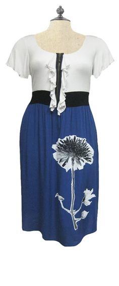 Reversed Flower Dress