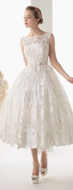 Rosa Clara Short Wedding Dress