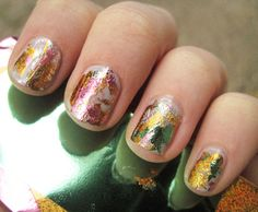 Quick and Easy Foil Nails http://blog.birchbox.com/post/42281527318/quick-and-easy-foil-nails-mani-monday