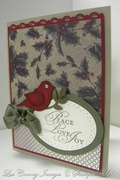 Bird Punch Christmas Card