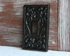 Black Light Switch Plate Cover Iron Metal Single Lightswitch Decorative Switchplates Outlet