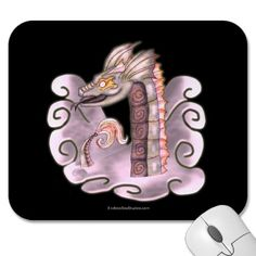 The Mayan Serpent Mouse Pads