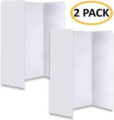 Amazon Com New Improved Premium White Trifold Presentation Board Trifold Poster Board Heavy Duty In 2020 Corrugated Cardboard Science Fair Presentation Board