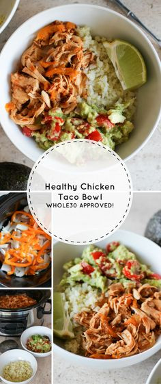 Healthy Chicken Taco Bowl (Whole30 Approved!) - Lake Shore Lady