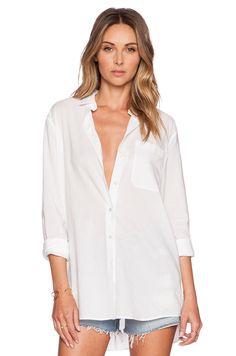 ATM Anthony Thomas Melillo Boyfriend Oversized Dress Shirt in White