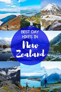 If you love hiking and being outdoors, the stunning mountains and valleys of New Zealand are perfect for you. In New Zealand there are lots of amazing trails that you can hike in one day. Discover the 14 best day hikes in New Zealand. Tahiti, Places To Travel, Travel Destinations, Australia Destinations, New Zealand Travel Guide, Camping New Zealand, New Zealand Adventure, Journey, Best Hikes