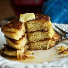 Fluffy Coconut Flour Pancakes (gluten-free and grain-free) #SheCooksHeCleans