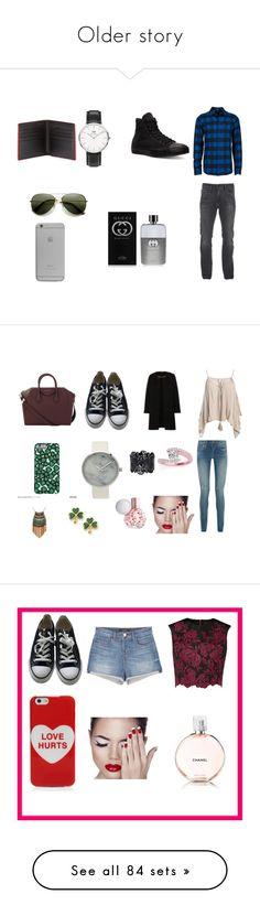 """Older story"" by bexie16 on Polyvore featuring Volcom, Calvin Klein, Converse, Daniel Wellington, Fendi, Native Union, Gucci, men's fashion, menswear and Sans Souci"