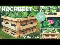 Hochbeet aus Europaletten selber bauen - Bauanleitung - Beet aus Paletten - Palettenmöbel - YouTube