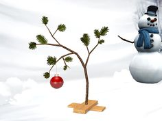 Charlie Brown Christmas Tree by Gelina - Sims 3 Downloads CC Caboodle