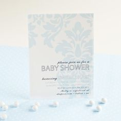 Chic Vintage Damask Baby Shower  Blue or Pink by arpartyprintables, $18.00