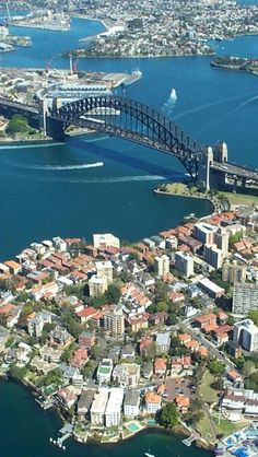 Sydney, Harbour, New South Wales, Australia - Explore the World with Travel Nerd Nici, one Country at a Time. http://travelnerdnici.com/ Tasmania, Sydney Harbour Bridge, Harbor Bridge, Wonderful Places, Beautiful Places, Costa Norte, Places To Travel, Places To Visit, South Wales