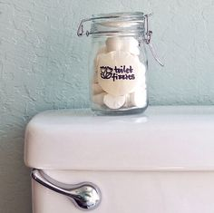 Homemade Toilet Bomb Fizzies - Freshen things fast with toilet fizzies that clean and eliminate smells. And (ahem) this solution is much better than lighting a match. Personalize with your favorite scents and your bathroom will be the best-smelling spot in your home. Stash in a cute container on your commode and simply drop in a small fizzy when needed.
