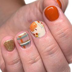 Mani Pedi, Nail Manicure, Gel Nails, Cute Nails, Pretty Nails, Tiny Baby Animals, Nails Today, Make Up Art, Fall Nail Designs