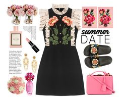 """""""summrer"""" by licethfashion ❤ liked on Polyvore featuring Gucci, Dolce&Gabbana, Mark Cross and Smashbox"""