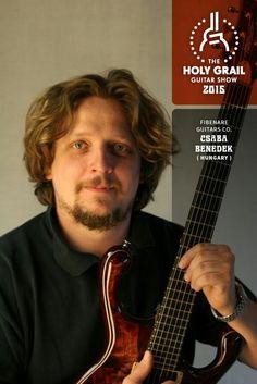 Exhibitor at the Holy Grail Guitar Show 2015: Csaba Benedek, Fibenare Guitars Co., Hungary. http://www.fibenarer-guitars.com/ http://holygrailguitarshow.com/exhibitors/fibenare-guitars/