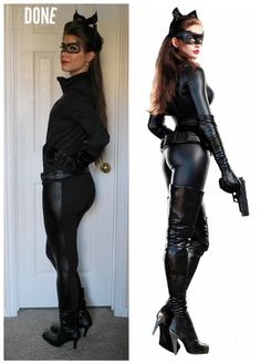 DIY Catwoman Costume   Sexy and Creative Batman Inspired Costume For Girls by DIY Ready at http://diyready.com/10-diy-catwoman-costume-ideas/