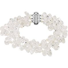 "#69345, Freshwater Pearl and Crystal Bracelet, 7.75""  Nathalie's Jeweler 936-242-3498"