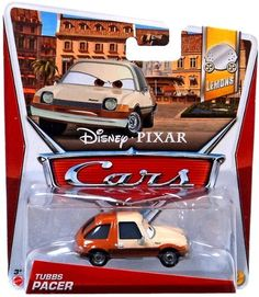 Disney / Pixar 2013 CARS 2 Movie 155 Die Cast Car TUBBS PACER by Mattel. $13.90. 1:55 Scale Diecast Car. For Ages 3 & Up. 2013 Disney Cars TUBBS PACER. Collect them all!. All your favorite characters from the Disney Pixar film, CARS 2, in 1:55th scale. With authentic styling and details, these die cast characters are perfect for recreating all the great scenes from the movie. Collect them all!