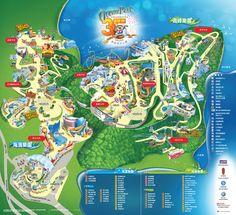 Map of Ocean Park Hong Kong