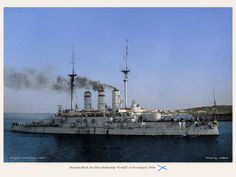 Russian Imperial Navy battleship Panteleimon before WW1.
