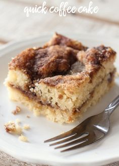 The BEST and EASIEST Coffee Cake Recipe! { lilluna.com } Super moist and delicious!
