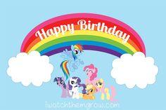 My Little Pony Rainbow Dash Birthday Party Printables My