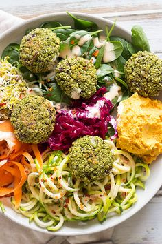 Baked Falafels with Spicy Tahini is a healthy and gluten free simple lunch that…