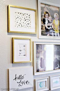 modern gallery wall + 2 free printables