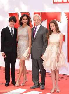 The Douglas Family : Dylan, Catherine Zeta, Micheal and Carys