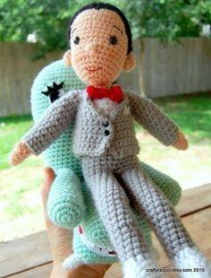 Crochet Pee Wee Herman! Gotta make this!