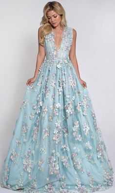 FLEUR GOWN and getting married in blue is good luck. Love this dress