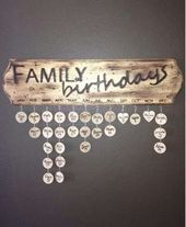 Check out this cool family birthday calendar board! Good way to keep track Check out this cool family birthday calendar board! Good way to keep track Family Birthday Calendar, Family Birthday Board, Family Bar, Stick Family, Class Birthdays, Family Birthdays, Apartment Decorating For Couples, Bedroom Decor For Couples, Classroom Birthday
