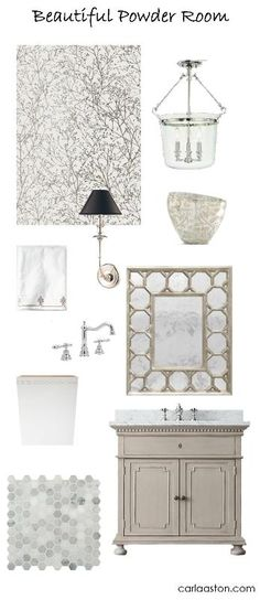 Update your powder room! Links to purchase.