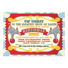 Cirque ou invitation d'anniversaire de billet de c