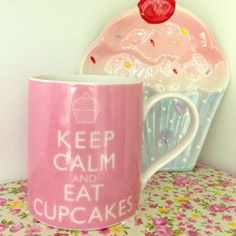"Keep Calm and Eat Cupcakes mug Brand new, never used pink mug with ""Keep Calm and Eat Cupcakes"" printed on it. Both sides have the same print. Gift tag attached. 🎂 Other"