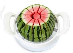 This melon slicer makes fast work of big fruit.