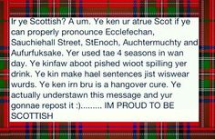 Scottish humour. . . It all makes perfect sense to me.