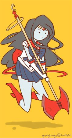 Sailor Marceline sailor moon and adventure time