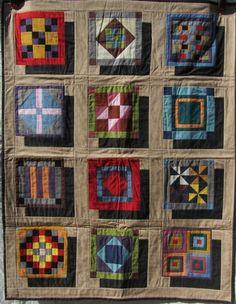 Amish Inspired Shadow Block Quilt | eBay