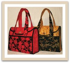 Executive Tote Sewing Pattern A sewing pattern by Lidia Froehler of Cotton Treasure Designs