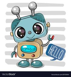 Cartoon Robot on striped background. Cute Cartoon Robot on striped background vector illustration Cartoon Cartoon, Cartoon Sketches, Disney Cartoon Characters, Disney Cartoons, Striped Background, Background Patterns, Robot Cute, Tumblr Cartoon, Robots Drawing