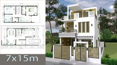 Simple Home Design Hd Image Simple Home Design Plan With 3 Bedrooms Sketchup Modeling Home Design Images Kerala House Design Bungalow House Design Simple Flat Roof Home Des. Simple House Plans, Simple House Design, House Front Design, Duplex House Plans, Bedroom House Plans, New House Plans, Home Design Images, Design Ideas, Design Plano