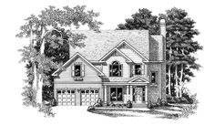 Colonial Style 2 story 3 bedrooms(s) House Plan with 1895 total square feet and 2 Full Bathroom(s) from Dream Home Source House Plans