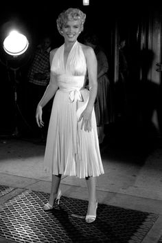 "Marilyn Monroe on location for ""The Seven Year Itch"", 1954."