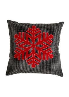 On ideel: SHIRALEAH Snowflake Square Pillow