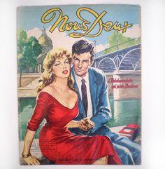 Comic Book Covers, Comic Books, Matt Bomer White Collar, Grande Hotel, Romance Comics, Vintage Romance, Photo Couple, Magazine, French Vintage