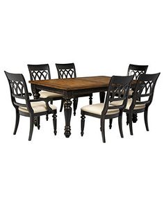 Dakota Dining Room Furniture, 7 Piece Set (Table, 4 Side Chairs and 2 Arm Chairs) - furniture - Macy's