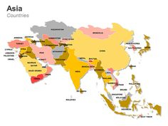 Asia Map - Editable PowerPoint Slides.  This deck of 60 editable PowerPoint…