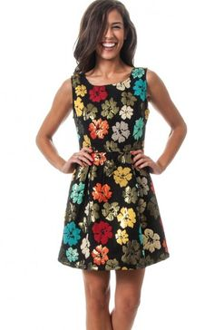 Black round neck sleeveless large floral print textured skater dress featuring back zipper. A flirty flare dress that will make you look and feel good! TAGS # , #wholesale dresses #fashion wholesale dress , #mini dress, #wholesale dresses #fashion wholesale dress , #printed dress, #Boutique #Boutique Wholesale, #Sexy 100% POLYESTER. HAND WASH. DO NOT BLEACH. IRON AT MAX TEMP. DRY CLEAN. DO NOT TUMBLE. MADE IN CHINA. $20.95